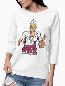 Playera Manga Larga Zombie Attack (Mujer) - Acid Soda