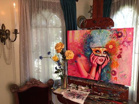"""Miss OlgaKay"" Original Painting 24x30Inches"