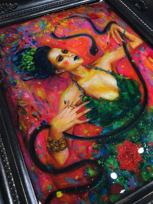 The Great Amphisbaena Ballet! Original Oil Painting / Resin Self Portrait