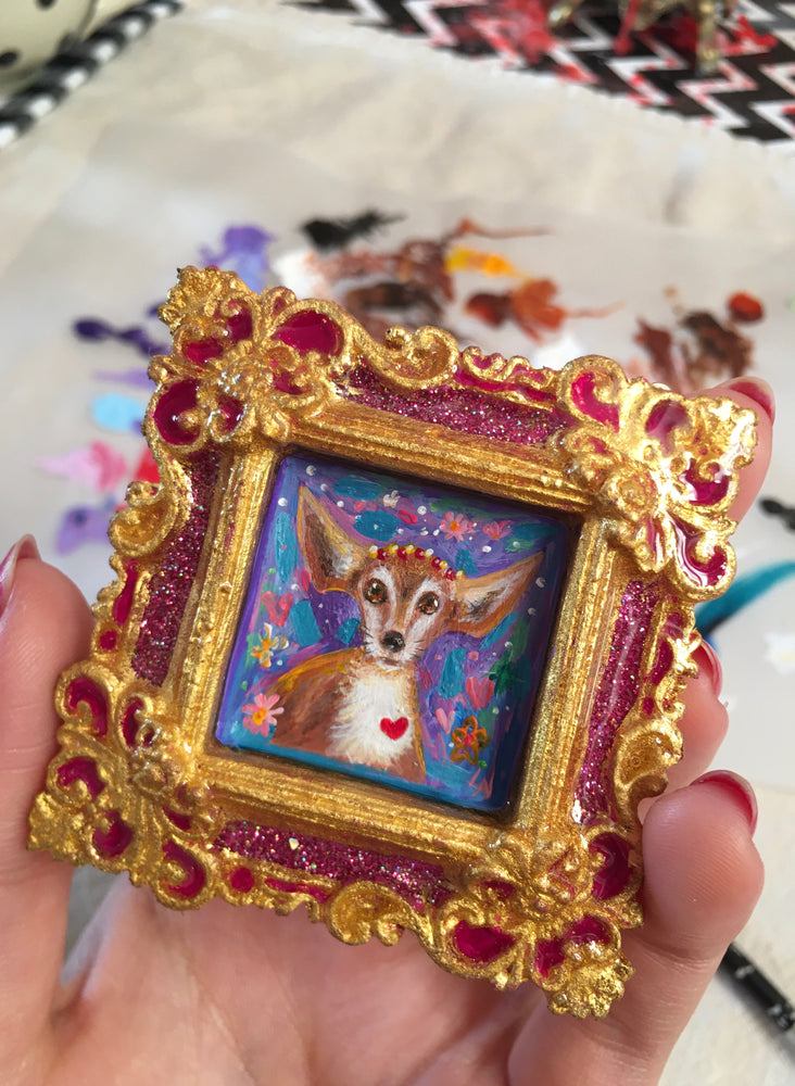 Special Commission Pet Portrait Medallion For Desi - Original Painting Medallion