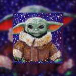 "Pre-Order ""The Child"" Aka Baby Yoda Medallion - Original Acrylic Painting"