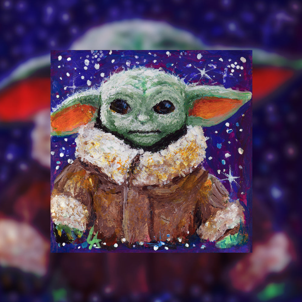 THE CHILD - Baby Yoda Miniature Medallion Necklace with Amethyst Vermeil Chain