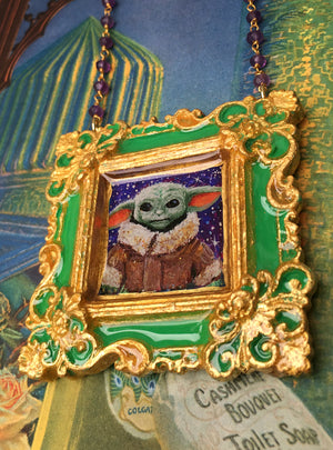 "Emerald Green ""The Child"" Medallion RESERVED"