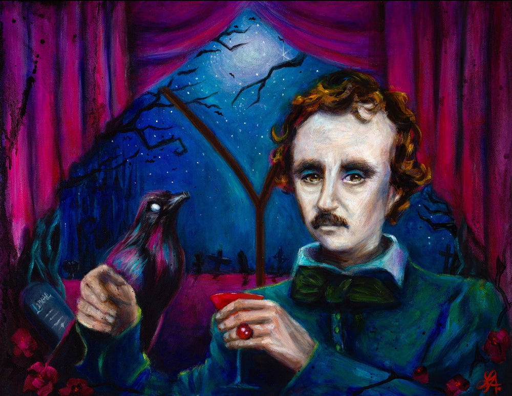 A Midnight Dreary - Edgar Allan Poe Print