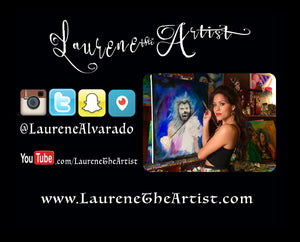 Three Sunflowers Original Oil Painting by Laurene Alvarado