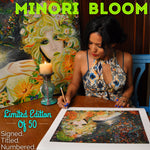 Minori Bloom Signed Limited Edition Giclee Print by Laurene Alvarado
