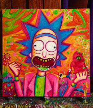 Rick and Morty Time! ORIGINAL PAINTING