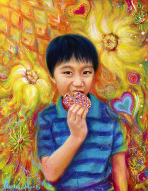 The Donut King 9x12 Inch Limited Edition Print by Laurene Alvarado