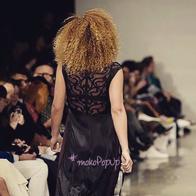 Black Tunic - by Aho Manawa. From the 2015 New Zealand Fashion Week runway.