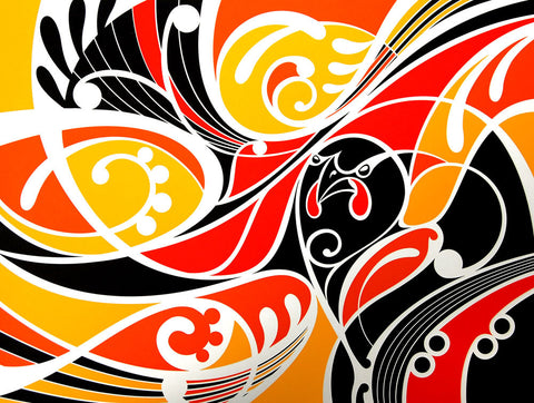 Limited Edition Print by Shane Hansen: Ataahua tieke yellow