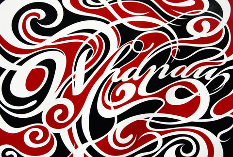 Limited Edition Print by Shane Hansen: Whanau gloss