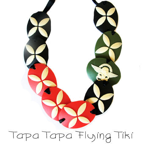 Tupu Tapa Tapa Flying Tiki Necklace
