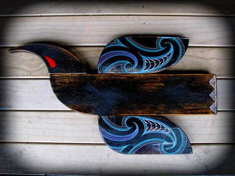 Huia Bird by Tony Harrington - hand made in Aotearoa New Zealand from demolition timbers