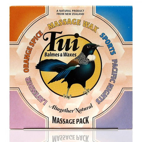 Tui Balms - Massage Pack, a collection of best sellers, 4 x 50g pots