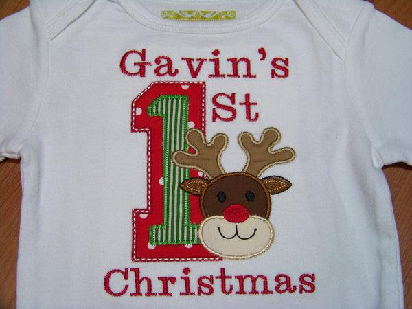 Reindeer Christmas Shirt 1st Christmas