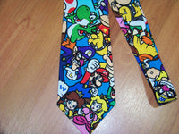 Mario Yoshi and Friends Adult Tie