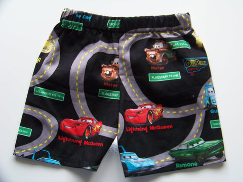 Cars Size 2 Shorts Lightning Mcqueen Towmater