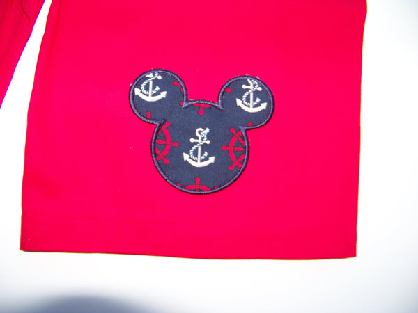 Mr Mouse Nautical Cruise Size 5 Shorts