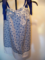 Blue Floral Pillow Case Dress