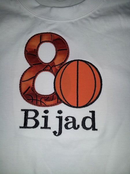 Basketball Birthday Shirt