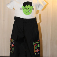 Frankenstein Two Piece Pant Set Size 12 Month