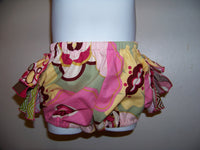 Flowers and Chevron Ruffle Bottom Diaper Cover
