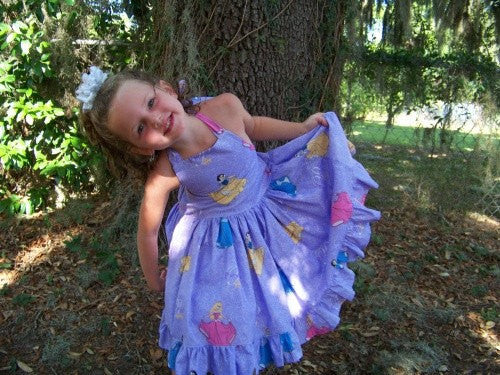 Pretty As A Princess custom boutique DM halter dress cinderella snow white belle sleeping beauty