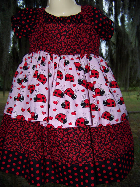 Little Lady bug two piece Dress Set valentine dress