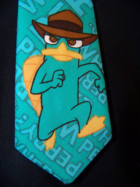 perry the platypus child's size tie great for birthdays, pictures, and photo props