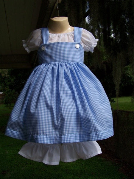DM custom boutique Dorothy three piece dress set halloween wizard of oz costume