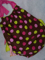 Polka Dot Sunsuit Ruffle Bottom Romper