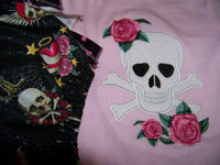 pirate princess two piece ruffle bottom diaper cover set