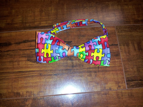 autism awareness kids bowtie puzzle piece bow tie