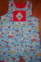 retro baby jon jon summer nautical jonjon sailboats