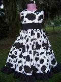 DM custom boutique cow print dress