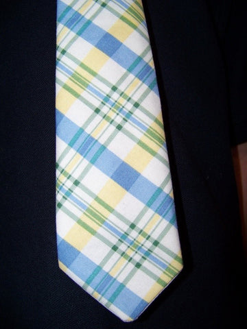 custom made mans plaid father s day plaid tie perfect for church and portraits