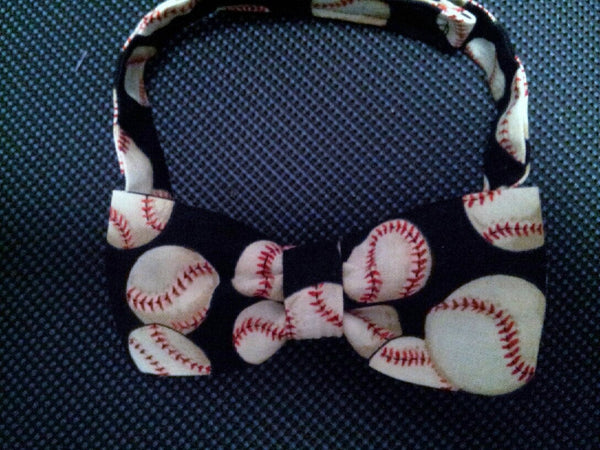 baseball themed child sized bowtie ball game bow tie