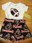 Buccaneers boys short set team spirit shirt  bucs football shorts outfit