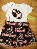 Buccaneers boys personalized short set team spirit shirt  bucs football shorts outfit