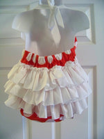 minnie mouse inspired birthday ruffled bottom halter romper personalized ruffle butt baby bubble
