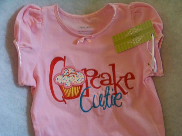 cupcake cutie birthday t shirt girls cupcake embroidered applique shirt