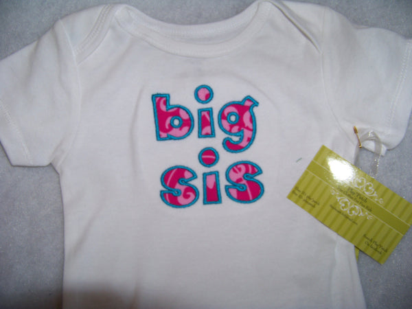 Pink Damask big sis or lil sis shirt