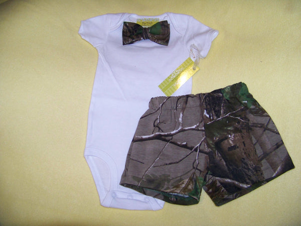 bowtie and camo shorts set baby boys camouflage outfit