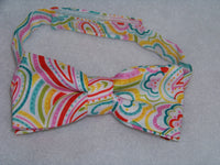 boys custom boutique fun paisley bowtie bow tie