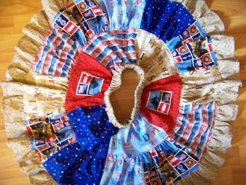 marine twirl skirt patriotic fourth of july patchwork skirt