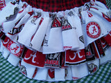Alabama ruffled bottom team spirit university diaper cover roll tide baby bama custom made ruffled bottom bloomers