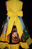 wizard of oz dorothy tin man scarecrow lion custom boutique full dress with ruffles and big bow
