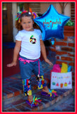 Little Diva personalized bright rainbow and cupcake themed birthday two piece set capri  shirt
