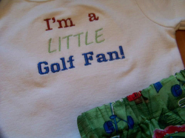 I'm a little golf fan shirt  custom boutique DM