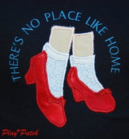 there is no place like home ruby red slippers tshirt red slipper shirt shoes playpatch